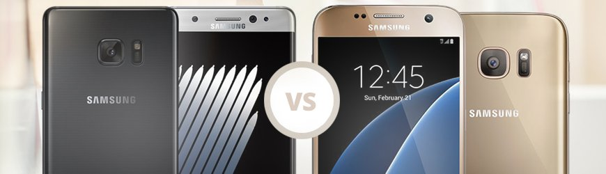 Samsung Note 7 vs Galaxy S7