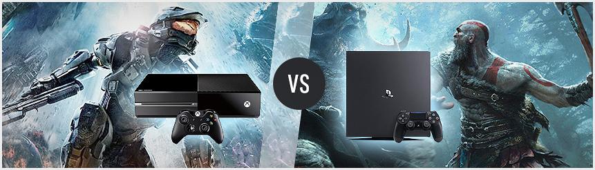 PS4 vs Xbox One X