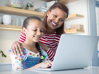 Parent Keeping Child Safe while Online