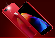 Red iPhone 8 front and back