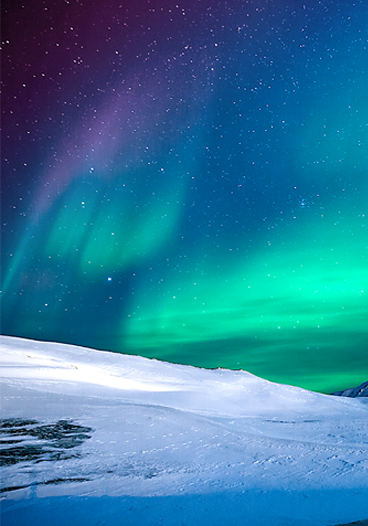 Snowy Northern Lights Tumblr Pinterest Backgrounds