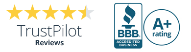 4.5 Stars Trust Pilot Reviews |  BBB Accredited A+ Rating